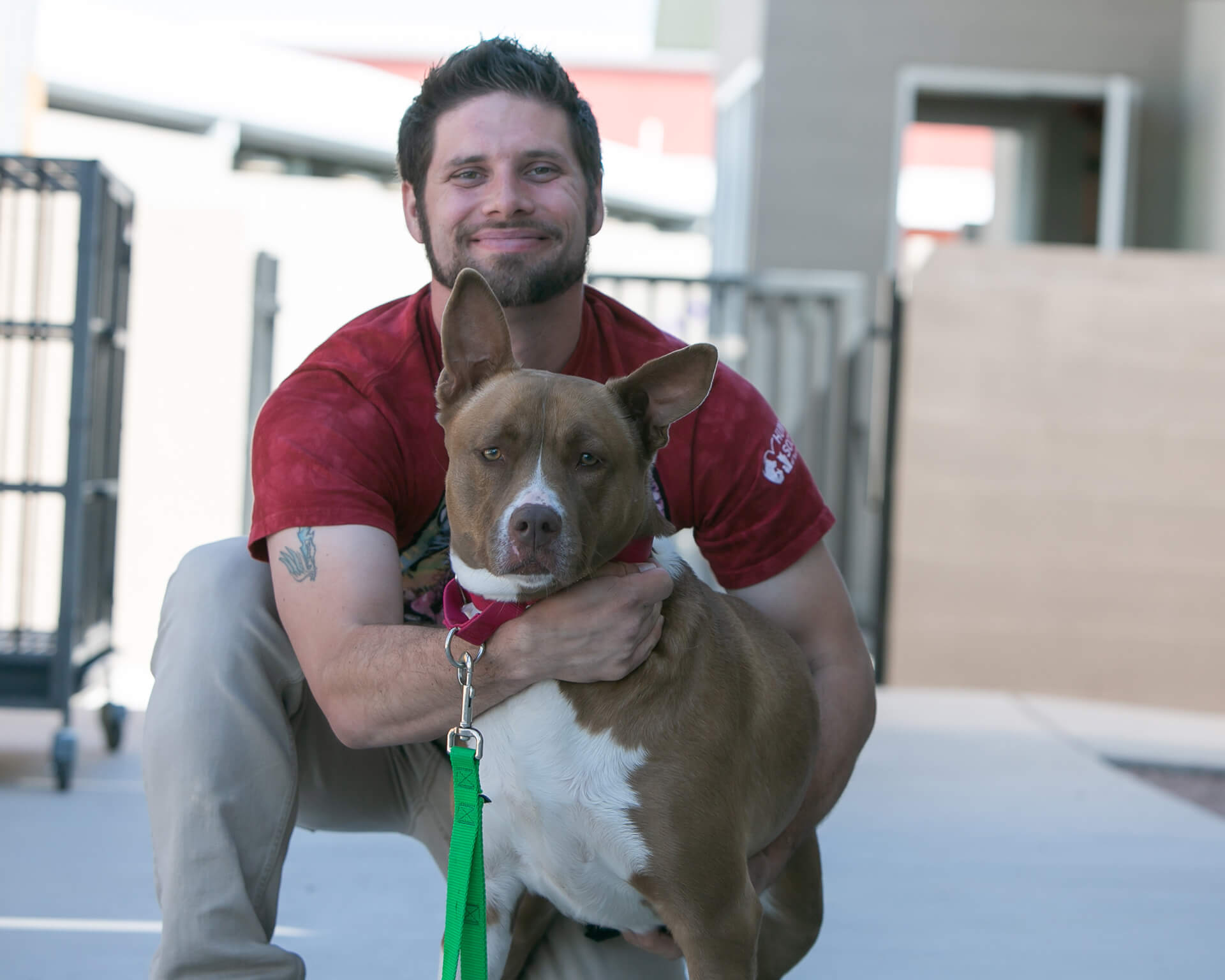 """""""People give up on these wonderful animals so quickly, and I made it my personal mission to make sure that these animals don't lose hope."""" – Steve, Canine Enrichment Specialist, Humane Society"""
