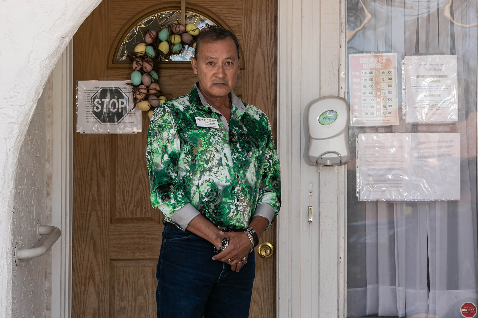 """""""It is not easy these days to own and run a home for assisted living. I just buried my youngest son in November, I have no desire to bury anyone else so I take this seriously. I am now living here at the home to make sure I am providing the ultimate best and safe care I can for my residents."""" – Anthony"""