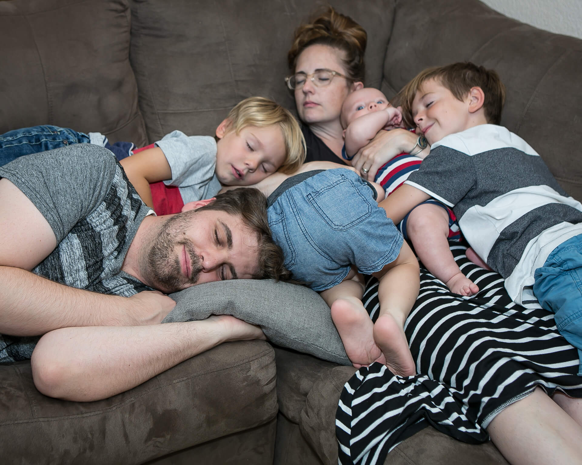 Seriously, with 4 little boys, how can one not end a photo session like this?
