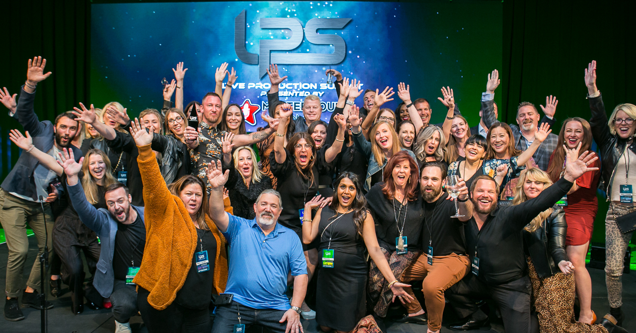 01/23-25/2020 Live Productions Summit hosted by OSA Corp at the Marriott Starr Pass Resort in Tucson AZ. The group celebrates following the award ceremony.