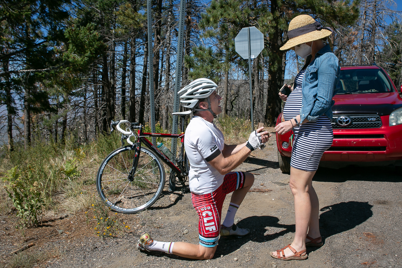Kathleen captured a surprise wedding proposal during a bike race in late 2020.
