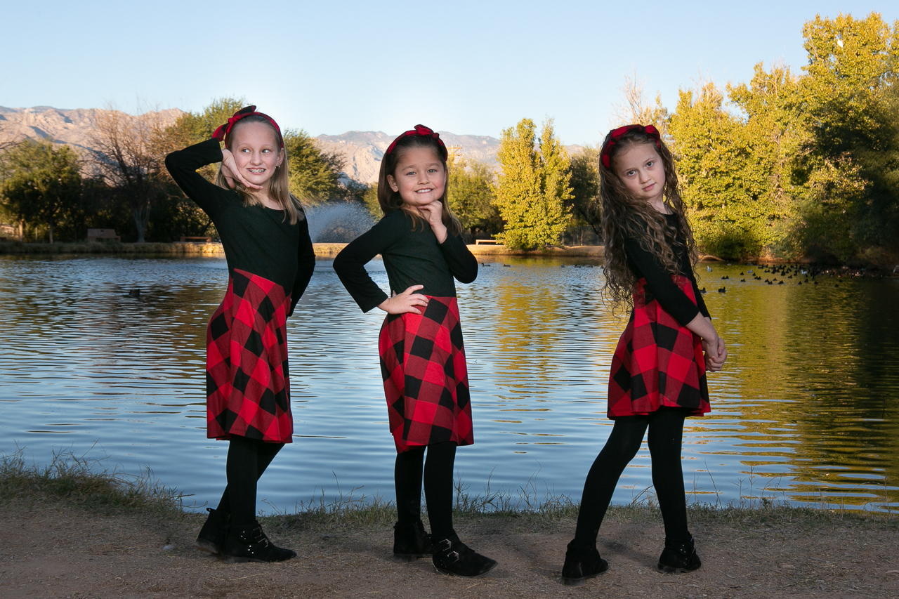 These young girls posed all on their own while Kathleen captured their individual personality.