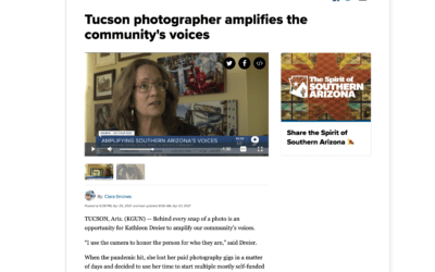 KGUN 9 feature story on Kathleen's Social Change Photography Series