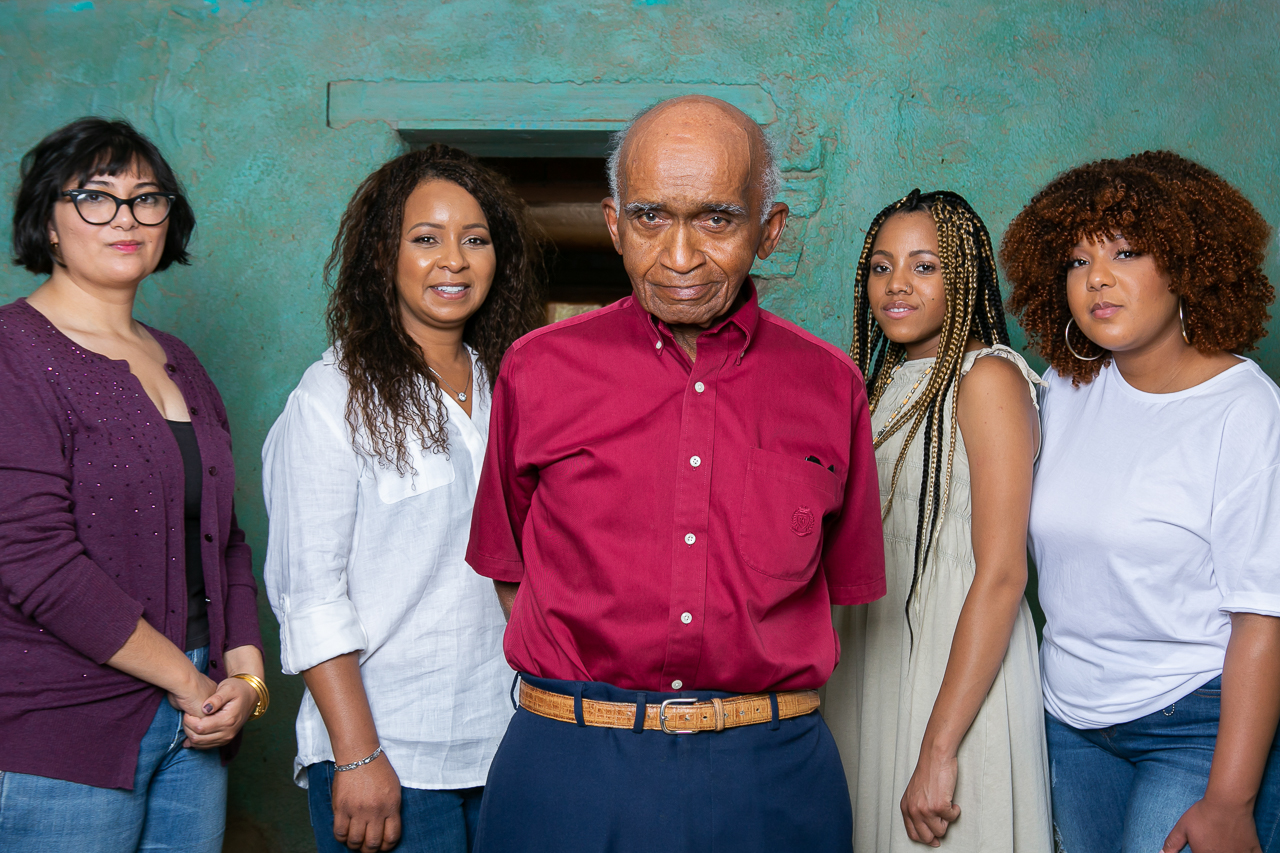 Charles Kendrick, Founder of the Afro Heritage Museum along with his daughter and  their 3 interns.
