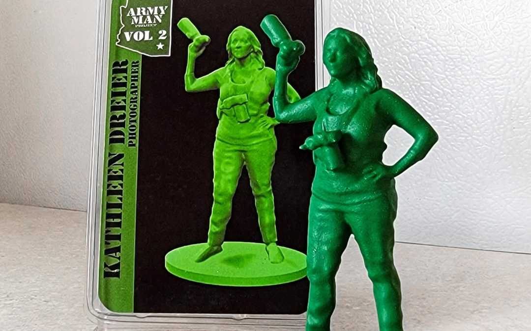 A 3D model of Kathleen will be in an Army Man art exhibit (!)